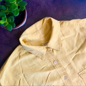 Ann Taylor LOFT Vintage Yellow Button Down